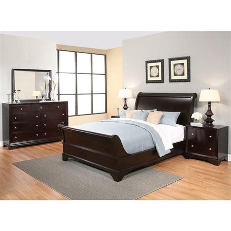 Espresso King Bedroom Set by Shop Abbyson Kingston 5 Espresso Sleigh King Size