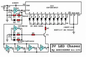 3v Led Chaser Circuit Diagram