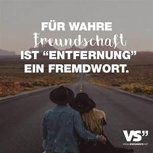 Wahre Sprüche Bilder : fuer wahre freundschaft ist entfernung ein fremdwort visual statements ~ Orissabook.com Haus und Dekorationen