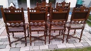 Antike Stühle Um 1900 : 6 antike st hle im henry ii stil mit pr ge leder ~ Markanthonyermac.com Haus und Dekorationen