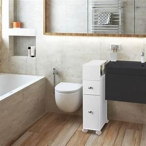Meuble De Rangement Wc : meuble rangement wc sur roulettes 2 tiroirs blanc meubles et am na ~ Teatrodelosmanantiales.com Idées de Décoration