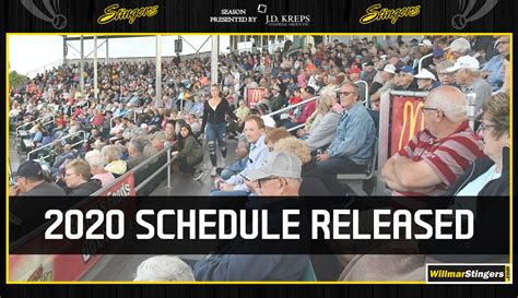 northwoods league announces  stingers schedule