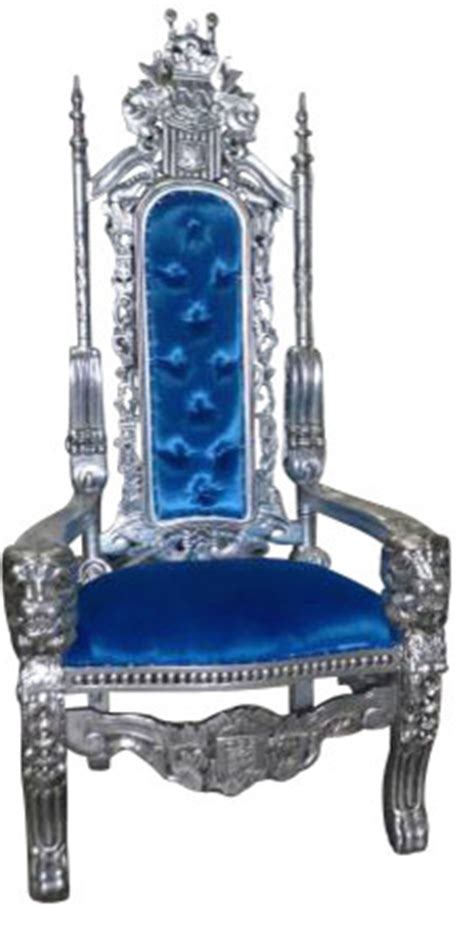 royal king  queen gothic throne chair blue armchairs  accent chairs  aventura