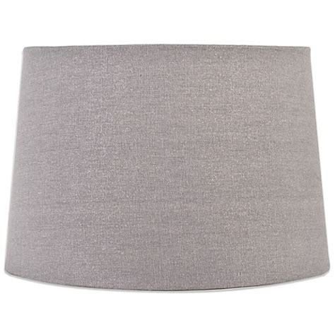 grey drum shade mix match large 15 inch sparkle drum l shade in grey 1488