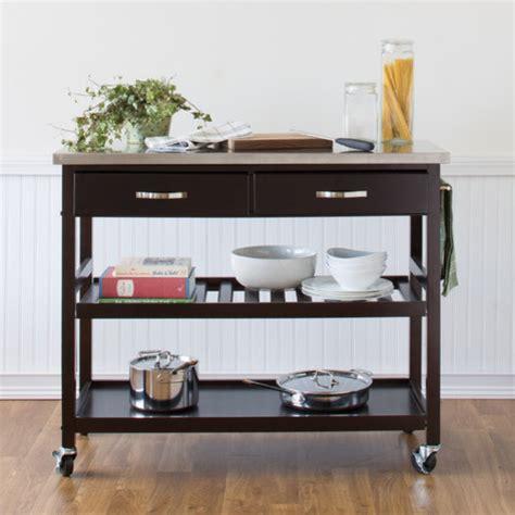stainless steel kitchen islands kitchen island cart with stainless steel top modern