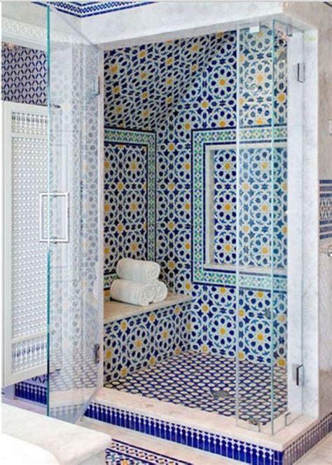 bathroom mosaic tile designs blue moroccan mosaic tile bathroom shower house