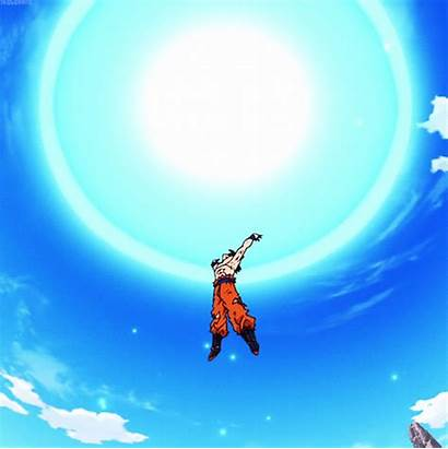 Spirit Bomb Gifs Ball Goku Giphy Dragon