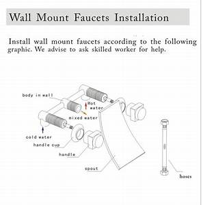 Wall mounted waterfall bathroom sink faucet or bathtub for How to install a faucet in the bathroom