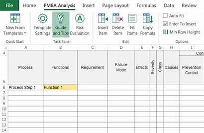 Fmea Excel Template Insert Inside Enter Quick