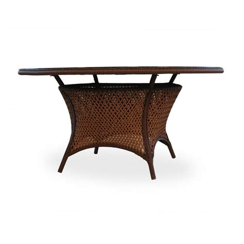 60 inch round outdoor dining table lloyd flanders grand traverse 60 inch round wicker dining