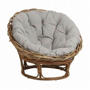 Coussin Fauteuil Rotin : fauteuil loveuse en rotin naturel ~ Preciouscoupons.com Idées de Décoration