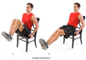chair crunch workout crunches and chairs