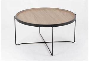 Table Basse En Bois : table basse ronde en m tal effet bois amadeus am 124658 ~ Teatrodelosmanantiales.com Idées de Décoration