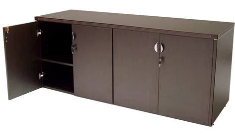 office storage credenza mocha l shaped reception desk in stock free shipping