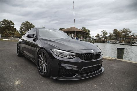 Sapphire Black Bmw F82 M4 With Morr Wheels