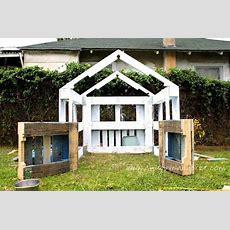 Kleines Haus Für Die Kinder Von Paletten 6 Garten