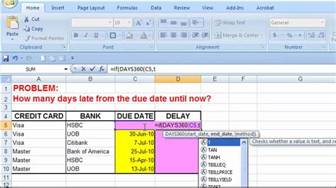 Trigger Warning Template For Shows by Excel How Many Days Late From The Due Date Youtube
