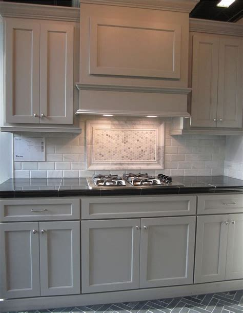 photos of kitchen cabinets gray cabinets black counters slate herringbone floor 4164