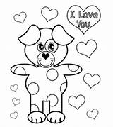 Valentines Coloring Pages sketch template