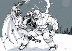 Thor vs Darkseid by Jauda on DeviantArt