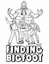 Bigfoot Finding Coloring Pages Colouring Sasquatch Printable Template Drawings Templates Designlooter Popular 776px 73kb Coloringhome sketch template