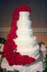 wedding cake ornament wedding cakes pictures five tier roses wedding cake