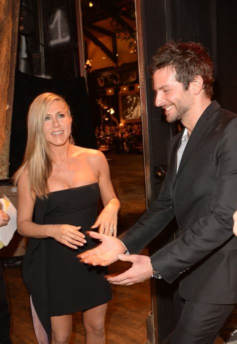Jennifer Aniston and Bradley Cooper chatted. | Celebrities ...