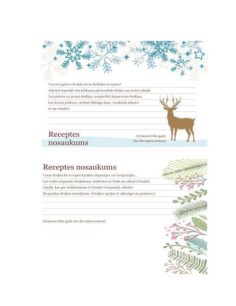 Recepšu kartītes (Ziemassvētku gara noformējums ...