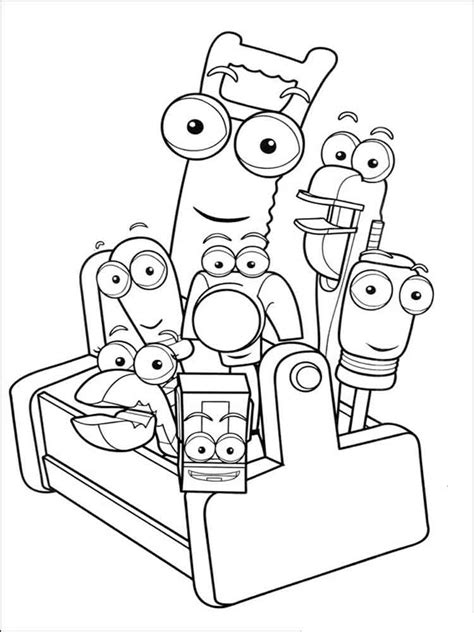 handy manny coloring pages  printable handy manny coloring pages
