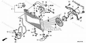 Honda Motorcycle 2019 Oem Parts Diagram For Radiator