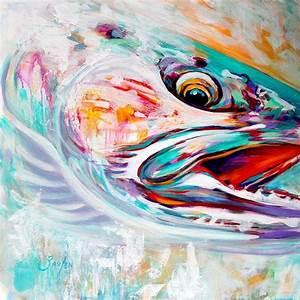 "Steelhead Trout Original Painting - ""Vanishing Native ..."