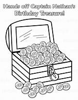 Treasure Chest Pirate Printable Coloring Pages Drawing Open Colouring Party Birthday Activity Personalized Childrens Etsy Getdrawings Craft Pdf Favor  sketch template