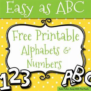 free printable letters and numbers for crafts With craft numbers and letters