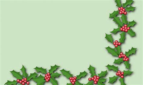 holly trim wallpaper freechristmaswallpapersnet