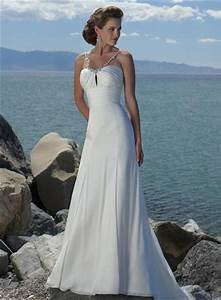simple v shaped beaded chiffon beach destination wedding With destination beach wedding dresses