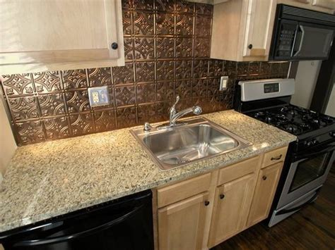 kitchen wall backsplash kitchen aluminum backsplash copper backsplashes for