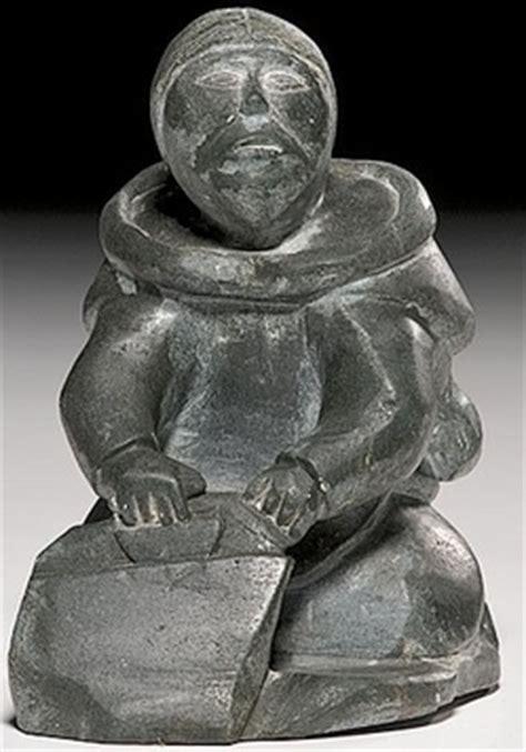 Soapstone Value by Carving Alaku Pingu Soapstone Preparing Hide