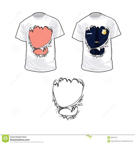 Torn T Shirt Template by Ripped T Shirt Stock Vector Illustration Of Vintage