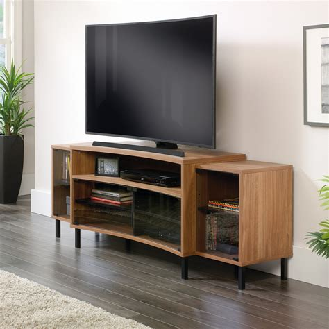 tv credenza black sauder select entertainment credenza tv stands at hayneedle