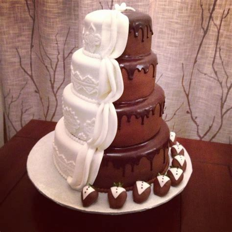 Half And Half Marble Chocolate Covered Strawberry Wedding
