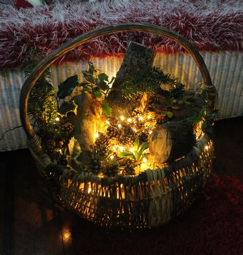 diy project   rustic basket decoration