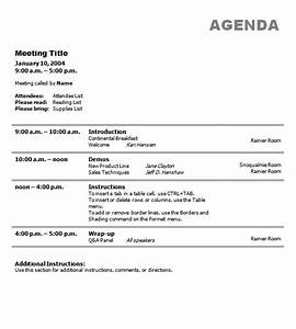 business meeting agenda template With agendas for meetings templates free
