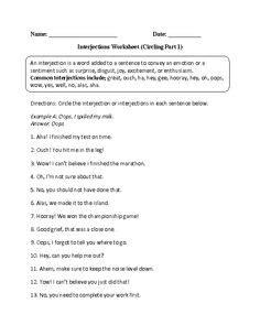 english interjection images worksheets grammar