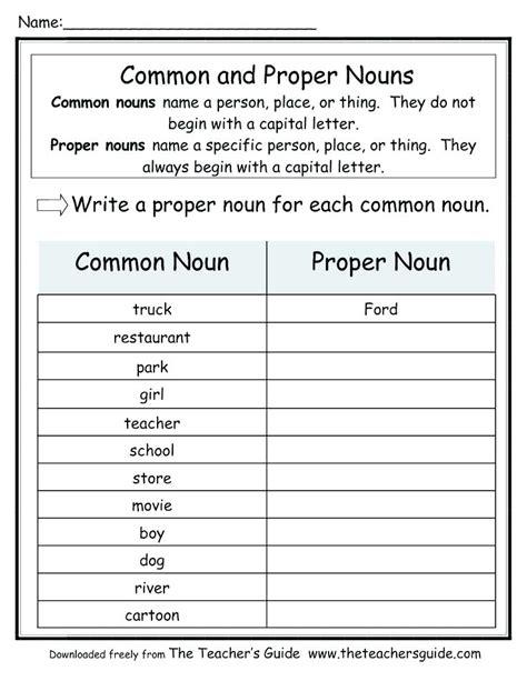 Common And Proper Nouns Worksheets Worksheet Ks2 Albertcowardco
