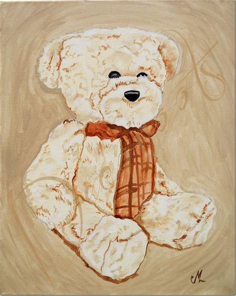 tableau chambre bébé garçon tableau enfant bébé valentin l 39 ours en peluche collection