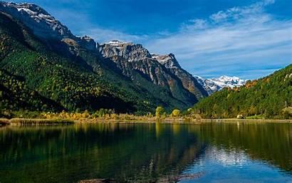 4k Nature Summer Mountains Pirineos Europe Lake