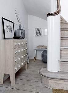 rangement couloir les bonnes idees d39amenagement cote With meuble de rangement hall d entree 6 console entree contemporaine miroir style scandinave bois
