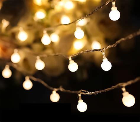 battery outdoor string lights brillare round battery operated led string lights kiyolo