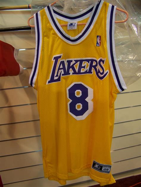 KOBE BRYANT HAND SIGNED LAKERS #8 JERSEY