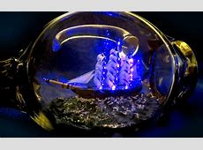 This Modern Ship In a Bottle is Lit with LEDs and Fiber